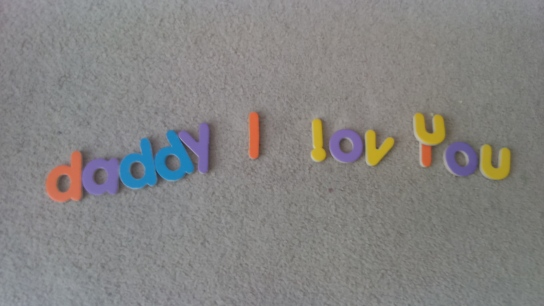 What my little girl, Kayah put together for me on the floor. Awesome, isn't it?